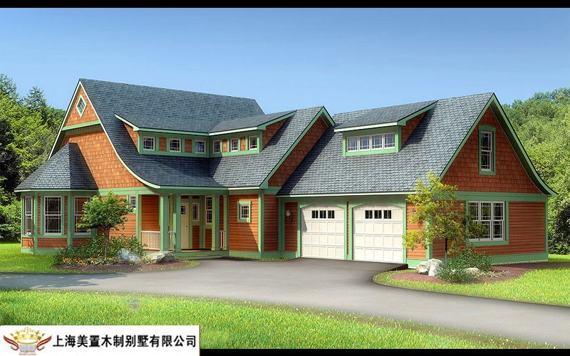 2016新农村房子房顶木结构