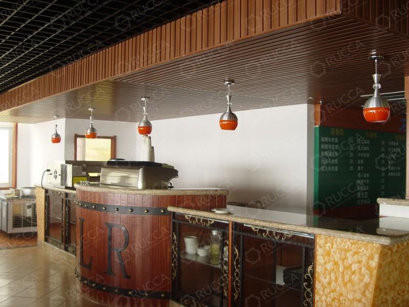 出鲁卡生态木墙面装饰板,户外墙板,组配天花,多功能木条,方通(方木)