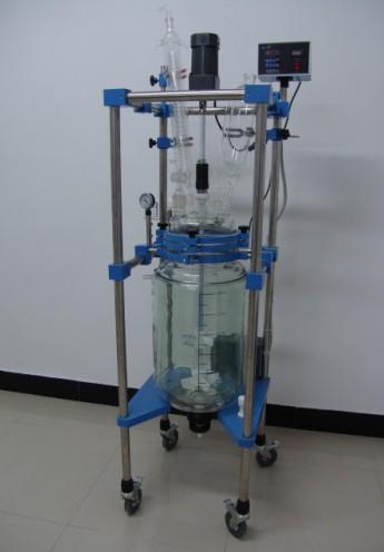 北京10L防爆双层玻璃反应釜生产、防爆玻璃反应釜