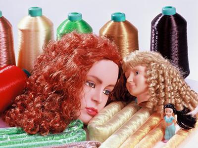 娃娃假发,尼龙发丝,PP发丝,PA发丝,广州丝娅发制品